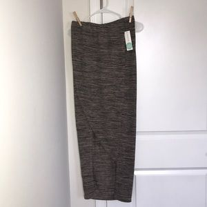 BRAND NEW WITH TAGS! Taupe wrap maxi skirt